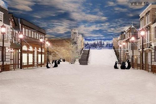 khu làng tuyết snow town