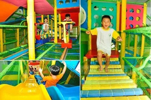 khu vui chơi gia đình siêu nhân cho trẻ