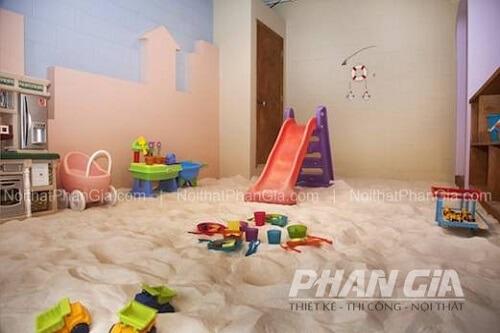 khu chơi cát cho bé tại nhà